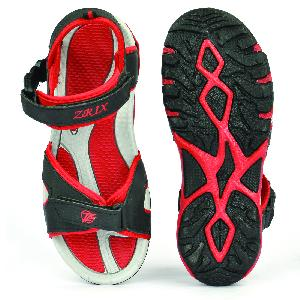 SDZ 116 Mens Black & Red Sandals 04