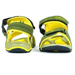 SDZ 116 Mens Mehndi & Yellow Sandals 03