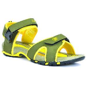 SDZ 116 Mens Mehndi & Yellow Sandals 06