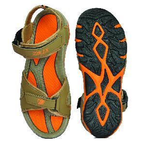 SDZ 116 Mens Mouse & Orange Sandals 04