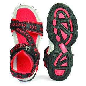 SDZ 117 Mens Black & Red Sandals 04