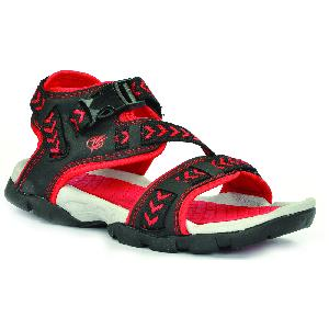 SDZ 117 Mens Black & Red Sandals 05