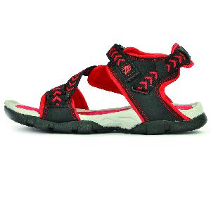 SDZ 117 Mens Black & Red Sandals