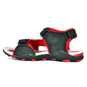 SDZ 118 Mens Black & Red Sandal 01
