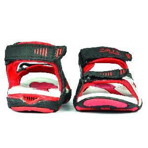 SDZ 118 Mens Black & Red Sandal 02