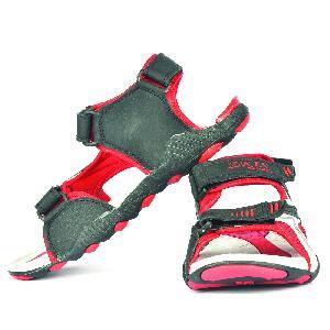 SDZ 118 Mens Black & Red Sandal 03