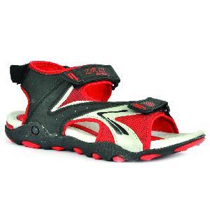 SDZ 118 Mens Black & Red Sandal 05