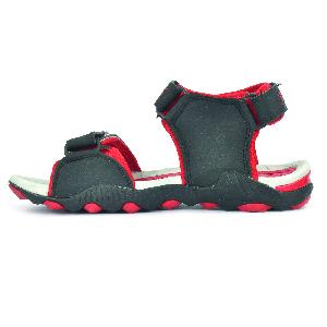 SDZ 119 Mens Black & Red Sandals 01