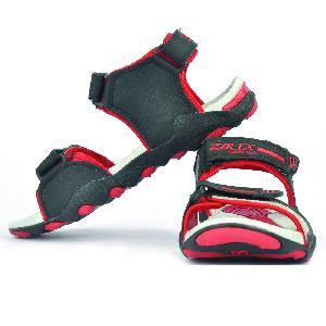 SDZ 119 Mens Black & Red Sandals 03