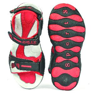 SDZ 119 Mens Black & Red Sandals 04