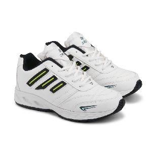 ZX-12 Mens White & Blue Shoes 01