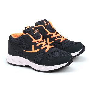 ZX-504 Navy Blue & Orange Shoes 01