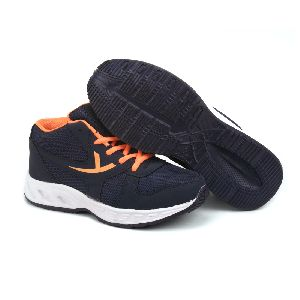 ZX-504 Navy Blue & Orange Shoes 02