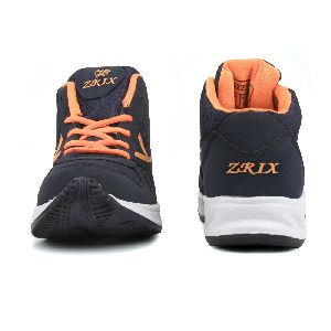 ZX-504 Navy Blue & Orange Shoes 05