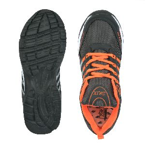 ZX 8 Mens Grey & Orange Shoes 05