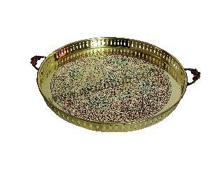 Brass Round Tray 03