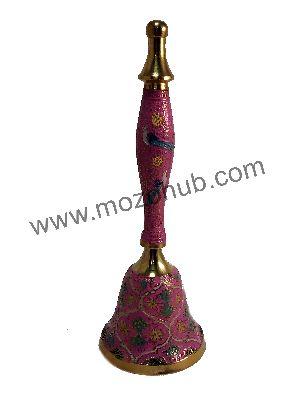 Pink Brass Hand Bell