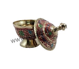 Red Brass Dome Pot