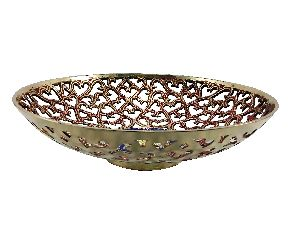 Red Brass Fruit Bowl