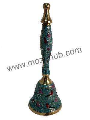 Skyblue Brass Hand Bell
