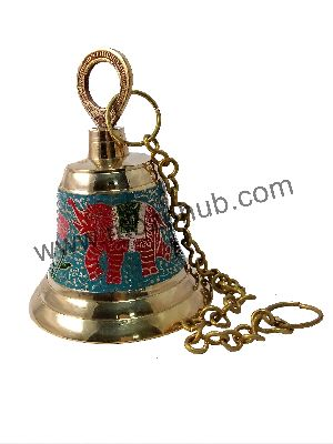 Skyblue Brass Hanging Bell