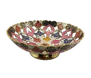 White Brass Fruit Bowl