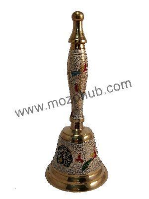 White Brass Hand Bell