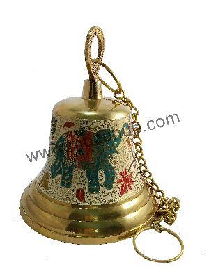 White Brass Hanging Bell