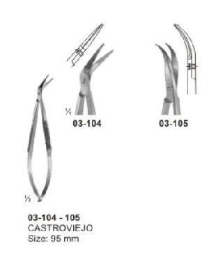 03-104-105 Spring Type Flat Handle Scissor