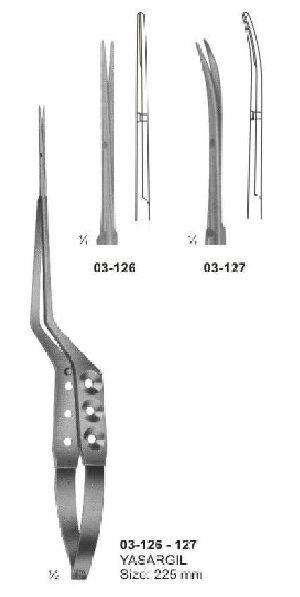 03-126-127 Spring Type Bayonet Shaped Scissor