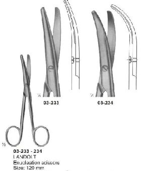 03-233-234 Landolt Enucleation Scissor