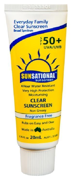 UVA UVB SPF 50+ Sunsational Sunscreen Cream