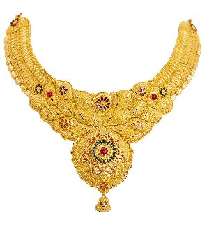 Gold Necklace 02