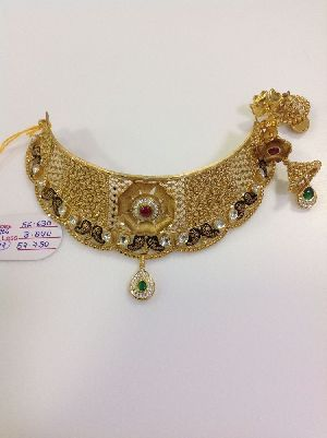 Gold Necklace 08