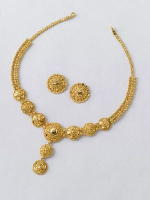 Gold Necklace Set 04