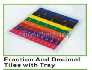 Fraction and Decimal Tiles With Tray