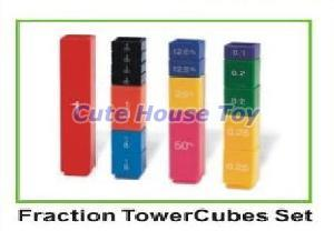 Fraction Tower Cube Set