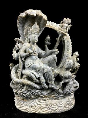 Vishnu Ananta Shayana Stone Statue