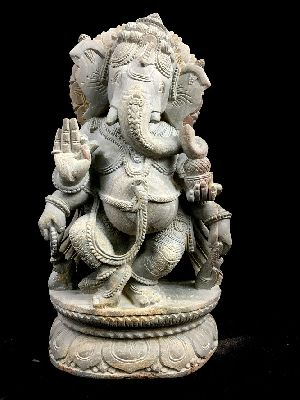 Dancing Ganesh with Tusk in Hand