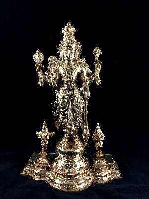 Mahavishnu with Anjaneya and Garuda
