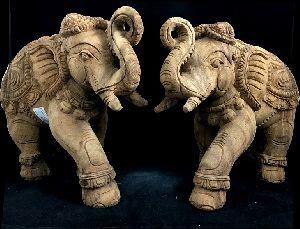 Pair of Elephants Statue
