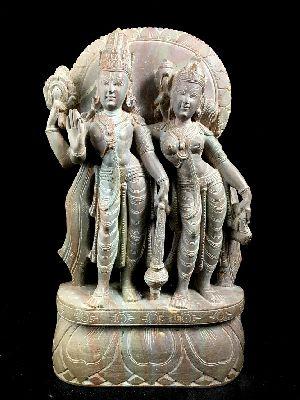 Standing Vishnu and Lakshmi