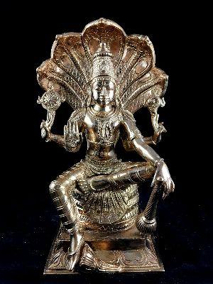 Vishnu Sitting On Nagar