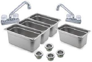 Hot Dog Cart Sink Kit
