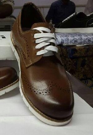 Mens Leather EVA Sole Shoes