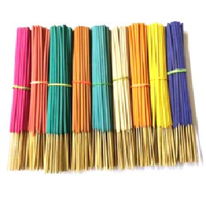 Natural Colored Raw Incense Sticks