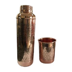 Copper Bottle with Tumbler