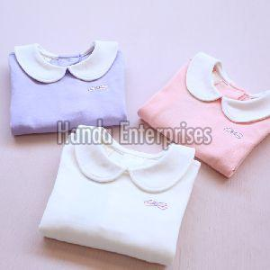 Girls Pan Collar T-Shirts