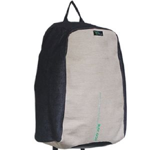 BBG00354  Jute Cotton Backpack