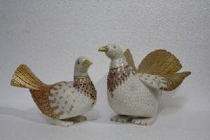 Marble Carving Pigeon Set